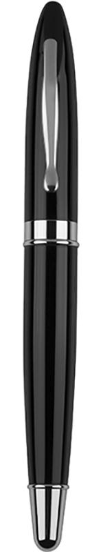 "Black & Silver Thick Stem Roller Ball Pen 14cm (5.5"")"