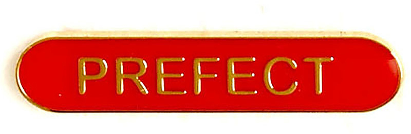 Prefect Lapel Bar Badge Red 40mm x 8mm