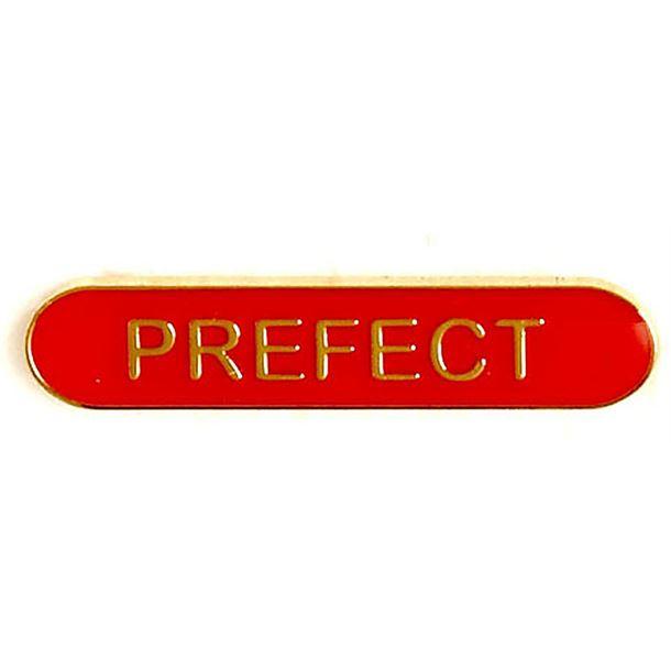 Prefect Lapel Bar Badge Red 40mm x 8mm