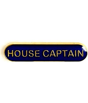 House Captain Lapel Bar Badge Blue 40mm x 8mm