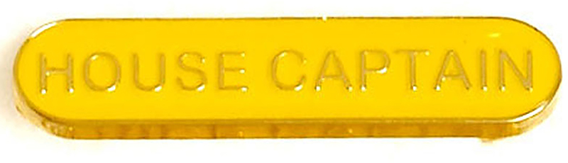 House Captain Lapel Bar Badge Yellow 40mm x 8mm
