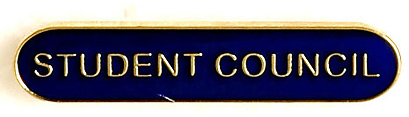Student Council Lapel Bar Badge Blue 40mm x 8mm