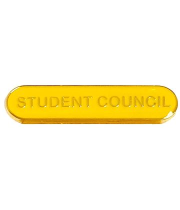 Student Council Lapel Bar Badge Yellow 40mm x 8mm