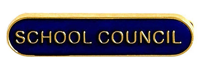 School Council Lapel Bar Badge Blue 40mm x 8mm
