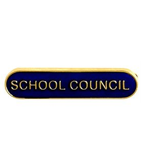 School Council Lapel Bar Badge Blue 40mm x 8mm