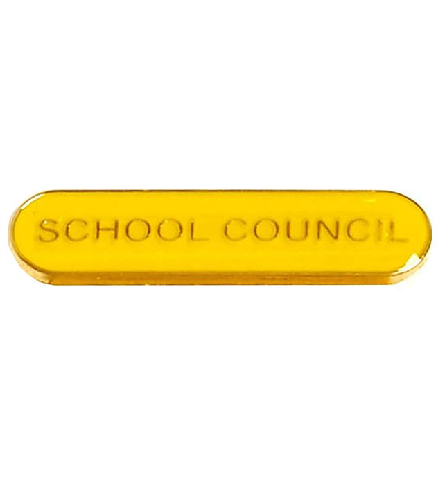School Council Lapel Bar Badge Yellow 40mm x 8mm