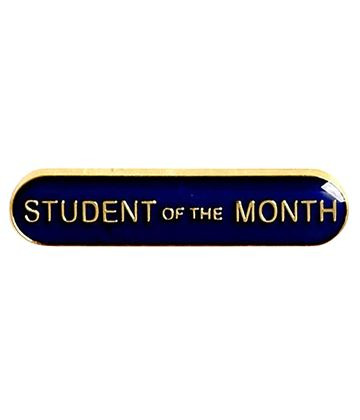 Student of the Month Lapel Bar Badge Blue 40mm x 8mm