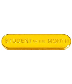 Student of the Month Lapel Bar Badge Yellow 40mm x 8mm