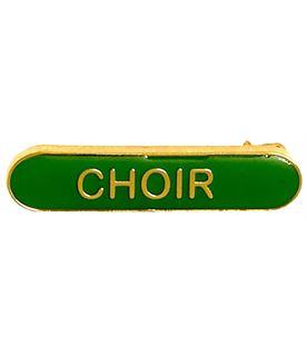 Choir Lapel Bar Badge Green 40mm x 8mm