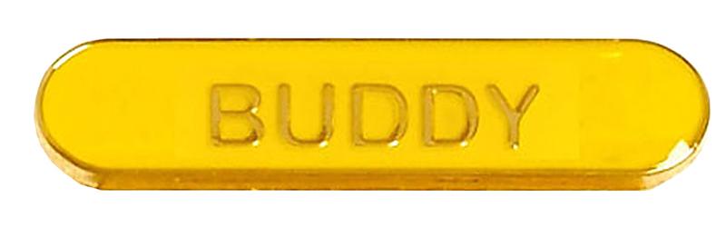 Buddy Lapel Bar Badge Yellow 40mm x 8mm