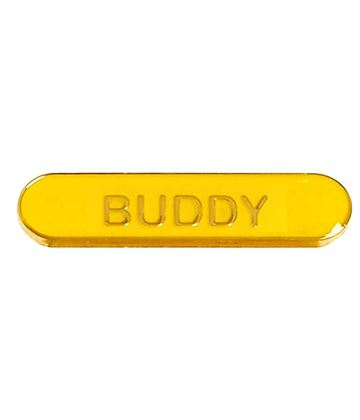 Buddy Lapel Bar Badge Yellow 40mm x 8mm