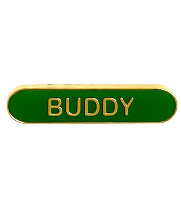 Buddy Lapel Bar Badge Green 40mm x 8mm