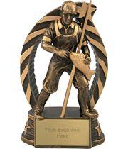 "Antique Gold Star Trim Fisherman Trophy 15cm (5.75"")"