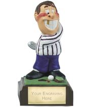 "Hacker - Novelty Hand Painted Golf Figure 10cm (4"")"