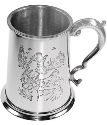 "1pt Sheffield Pewter Shooting Tankard 11.5cm (4.5"")"