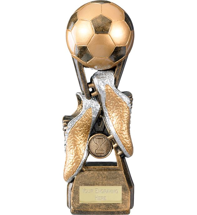 "Invincible Elite Ball & Boot Football Trophy 27.5cm (10.75"")"