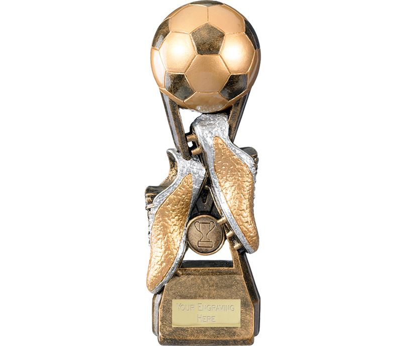 "Invincible Elite Ball & Boot Football Trophy 19cm (7.5"")"