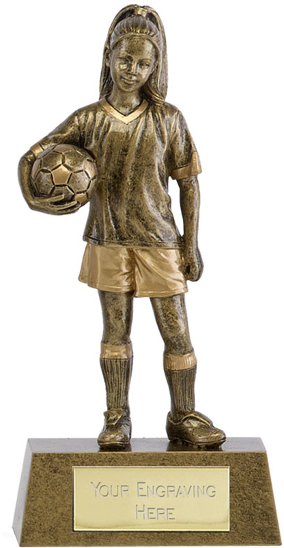 "Phoenix Youth Football Girl Trophy 18cm (7"")"