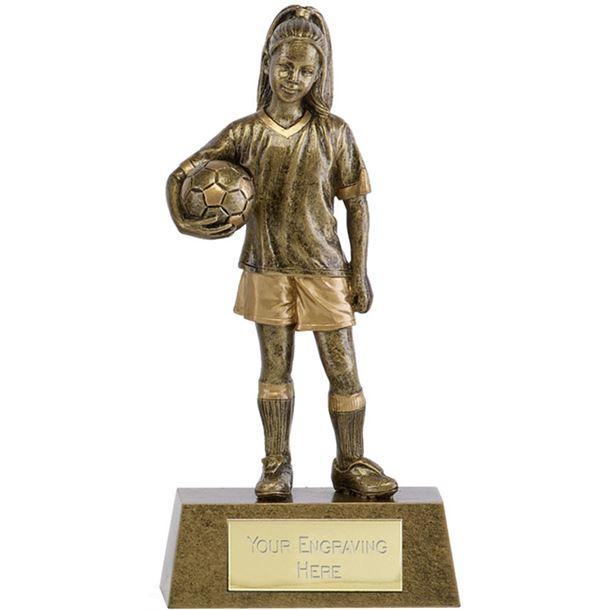 "Phoenix Youth Football Girl Trophy 18cm (7"")"
