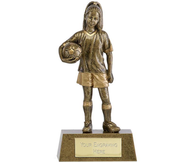 "Phoenix Youth Football Girl Trophy 15cm (6"")"