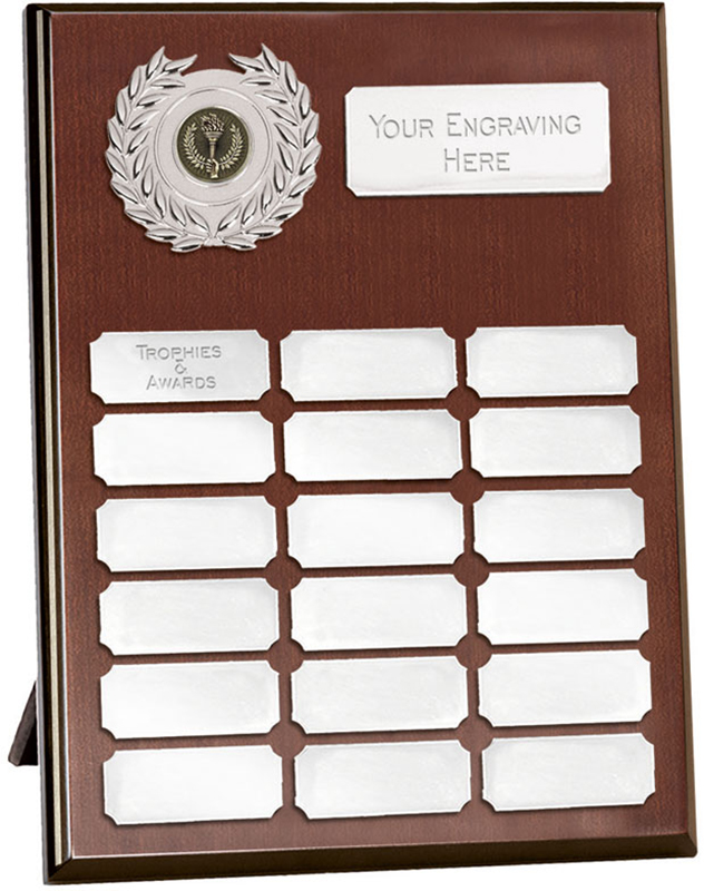 "Rosewood Silver Annual Presentation Plaque 30.5cm (12"")"