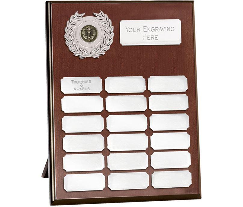 "Rosewood Silver Annual Presentation Plaque 30.5cm (12"")"