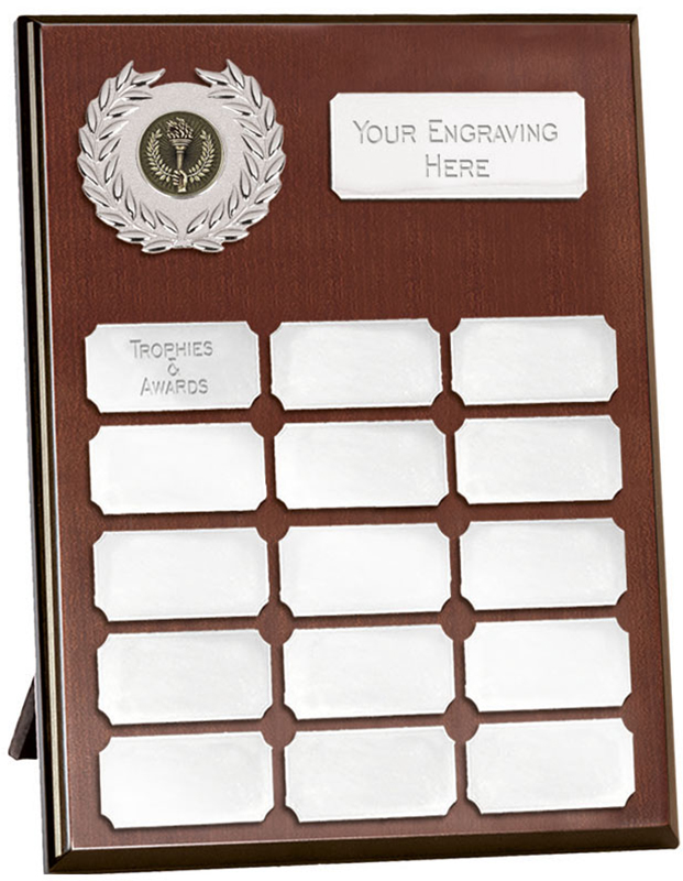 "Rosewood Silver Annual Presentation Plaque 25.5cm (10"")"