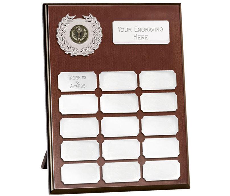 "Rosewood Silver Annual Presentation Plaque 25.5cm (10"")"