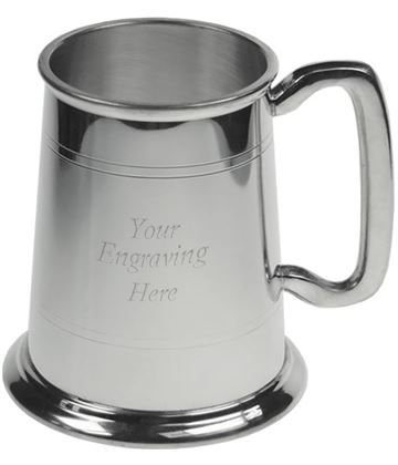 "Double Lined 1pt Sheffield Pewter Tankard 11.5cm (4.5"")"
