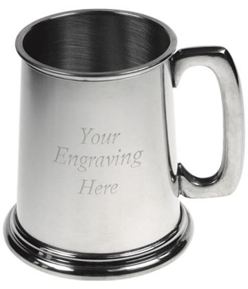 "Plain 1/2pt Sheffield Pewter Tankard 9.5cm (3.75"")"