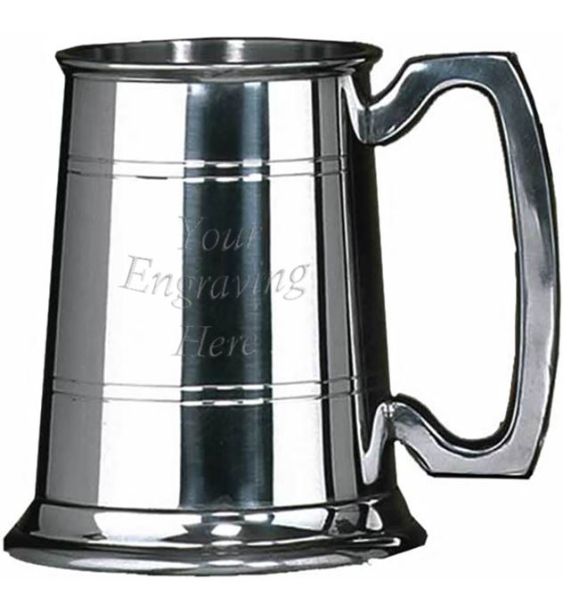 "Sheffield Pewter Rutland 1/2 Pint Tankard 10cm (4"")"