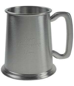 "Plain Satin 1pt Sheffield Pewter Tankard 11.5cm (4.5"")"
