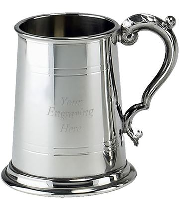 "Sheffield Pewter Commodore 1 Pint Tankard 12.5cm (5"")"