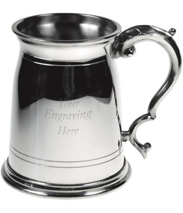 "Olde London Style 1pt Sheffield Pewter Tankard 11.5cm (4.5"")"