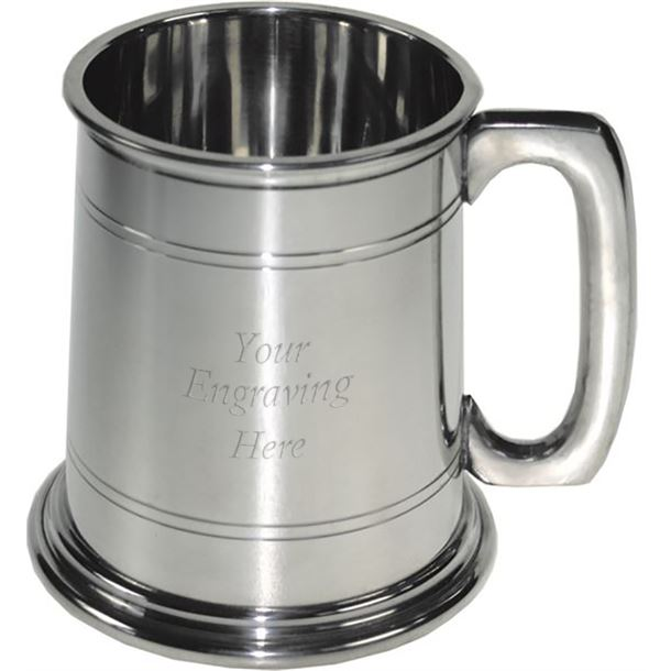 """1/2pt Double Lined Sheffield Pewter Tankard 9.5cm (3.75"""")"""