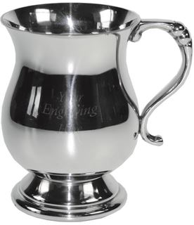 "1/4pt Georgian Style Children's Sheffield Pewter Tankard 7.5cm (3"")"