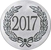 "Silver Metal 2017 1"" Centre Disc"