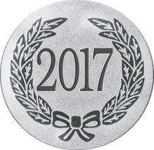 "Silver Metal 2017 1"" Centre Disc"