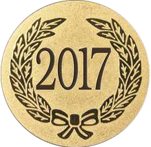 "Gold Metal 2017 1"" Centre Disc"