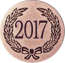"Bronze Metal 2017 1"" Centre Disc"