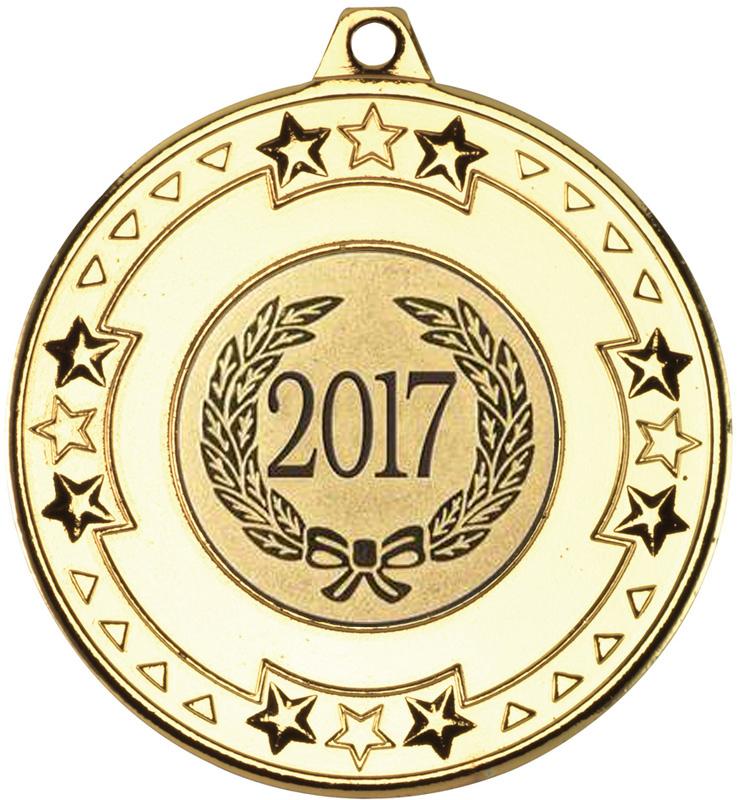 "2017 Gold Star & Pattern Medal 50mm (2"")"