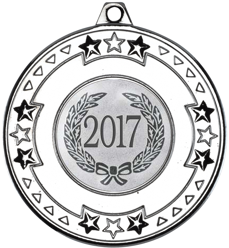 "2017 Silver Star & Pattern Medal 50mm (2"")"