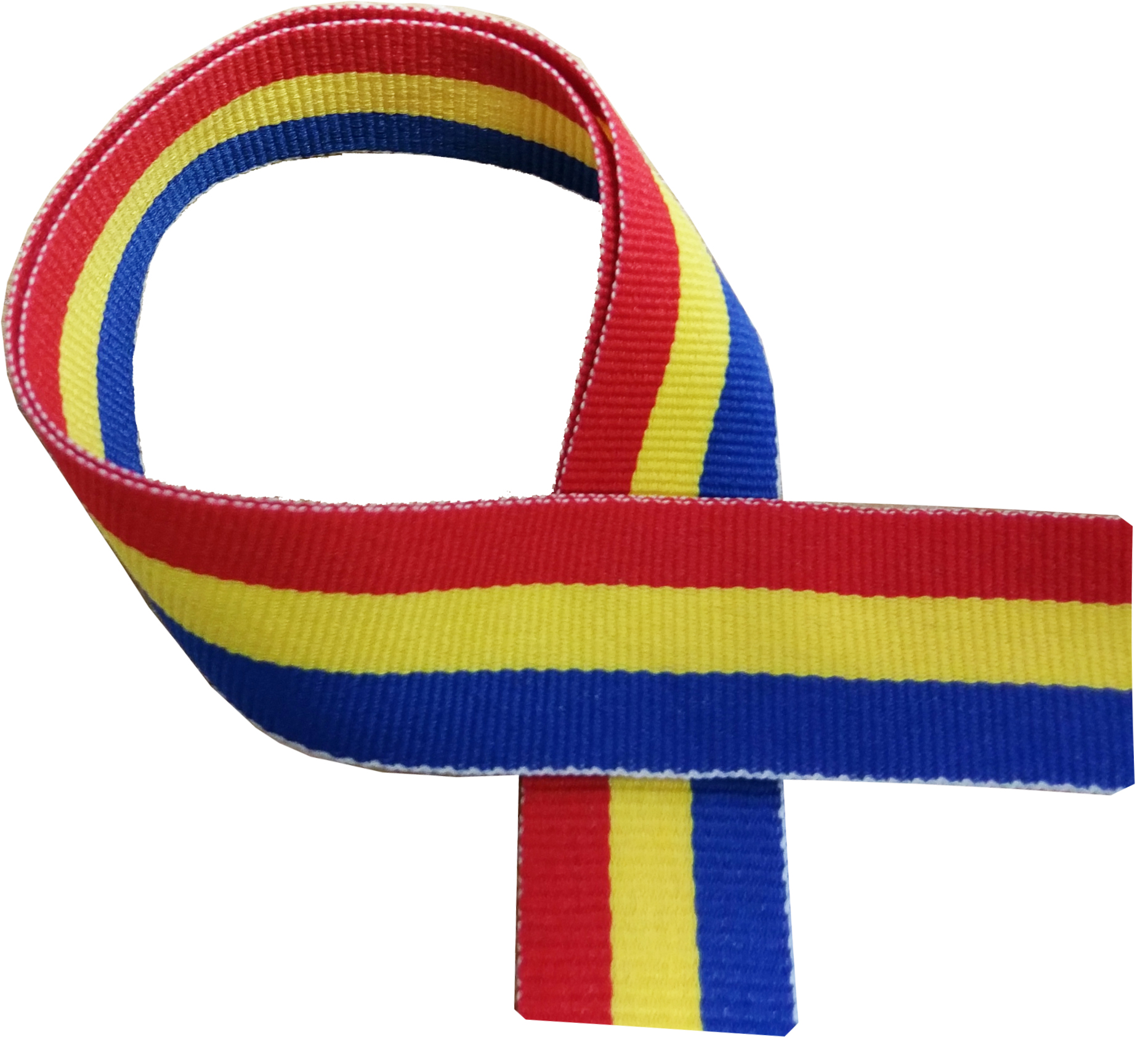 """Blue, Yellow and Red Medal Ribbon 76cm (30"""")"""