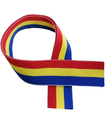 "Blue, Yellow and Red Medal Ribbon 76cm (30"")"