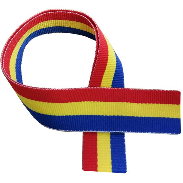 """Blue, Yellow and Red Medal Ribbon 80cm (32"""")"""
