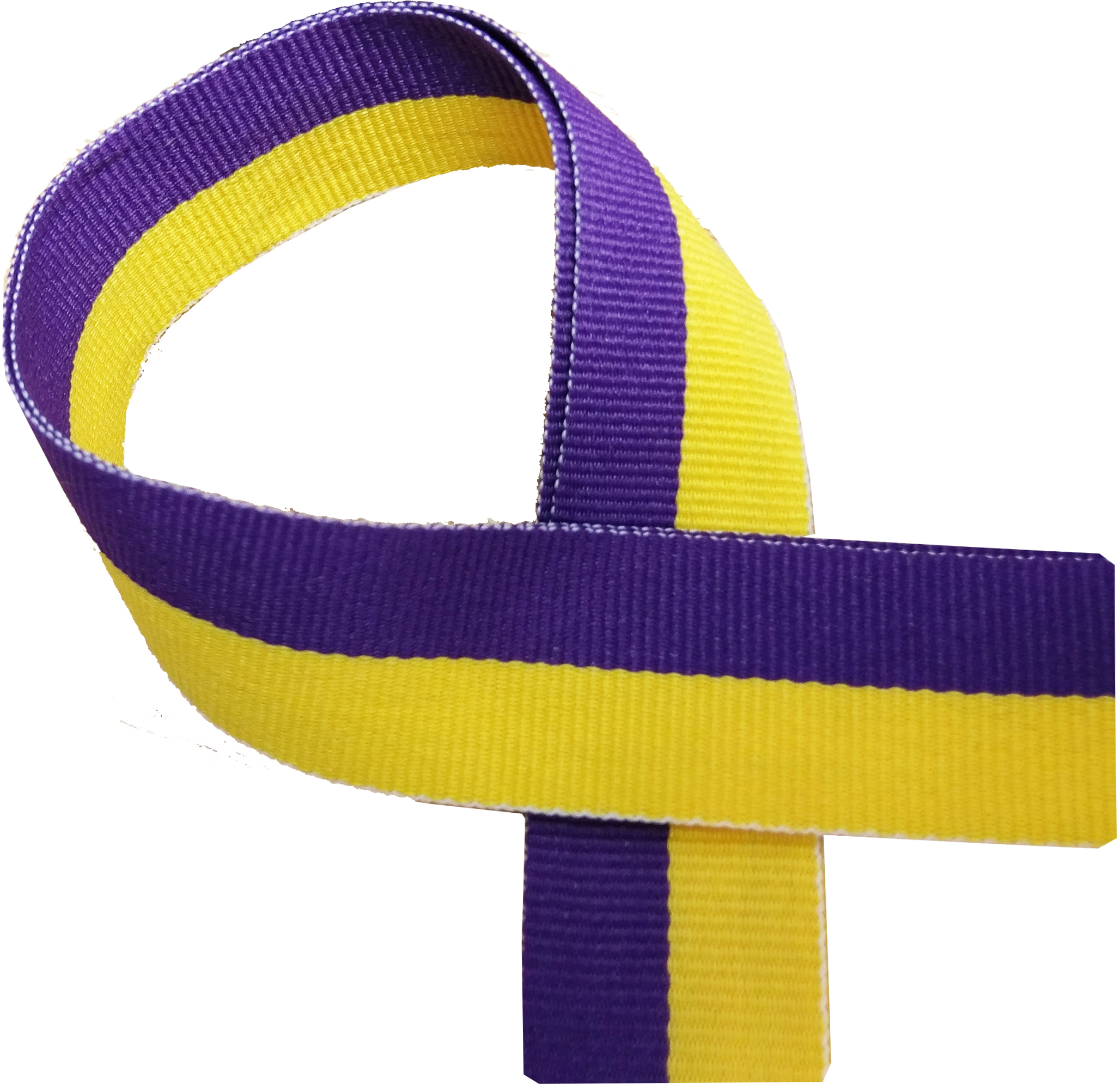 "Yellow and Purple Medal Ribbon 76cm (30"")"