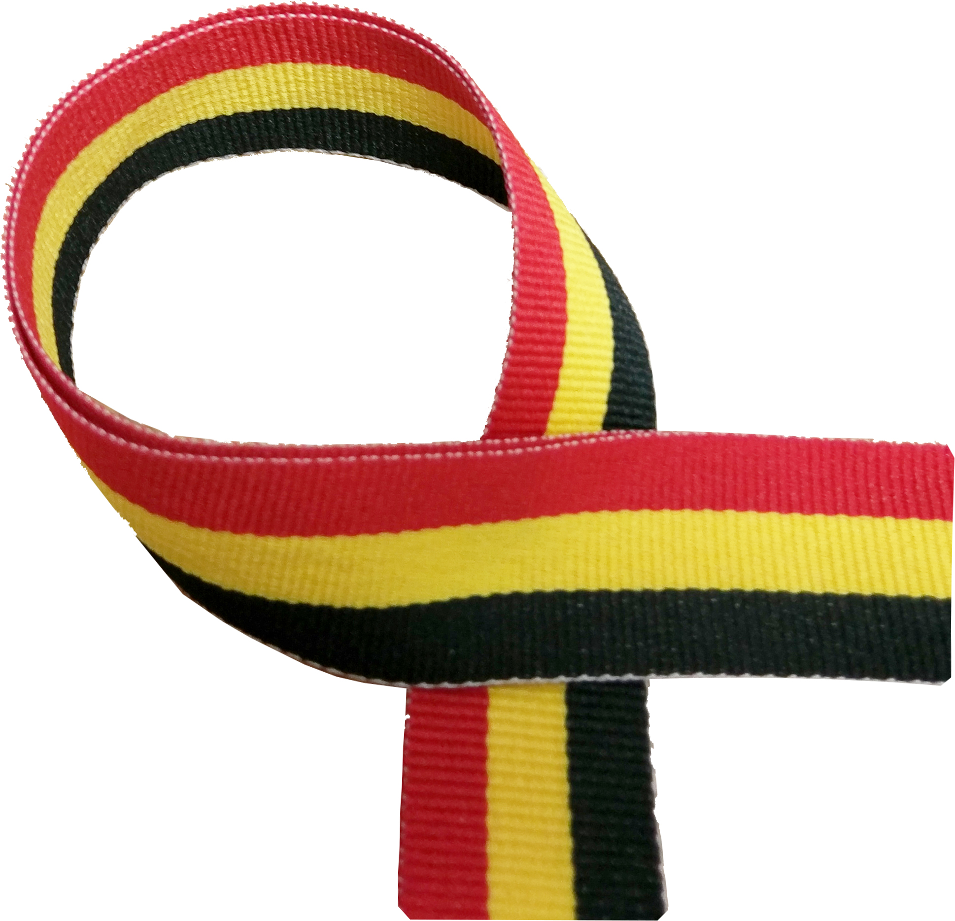 "Black, Yellow and Red Medal Ribbon 76cm (30"")"