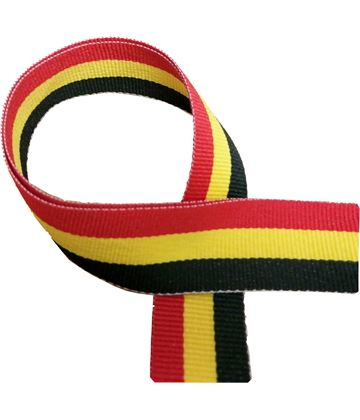 "Black, Yellow and Red Medal Ribbon 80cm (32"")"