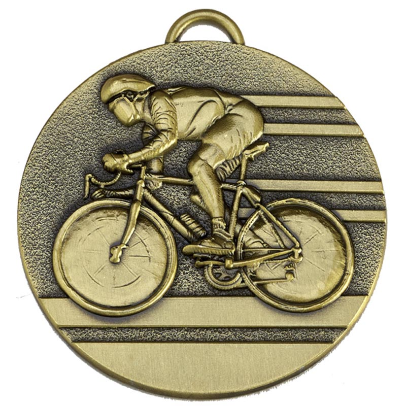 """Target50 Bronze Cycling Medal 50mm (2"""") with Red, White and Blue Ribbon"""