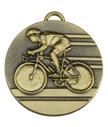 "Target50 Bronze Cycling Medal 50mm (2"") with Red, White and Blue Ribbon"